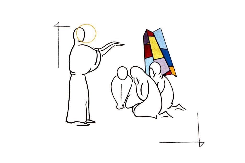 benoit Jésus et les aveugles de Jéricho