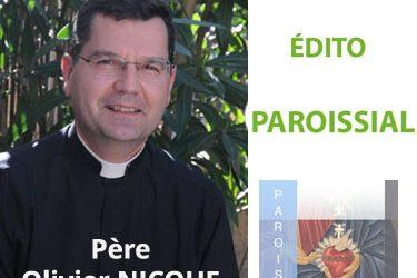 Edito du Père Olivier